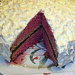 recette Gâteau rouge et glaçe au beurre