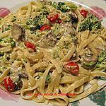 recette Fettuccine au fromage et aux légumes