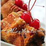 """recette Pains """"version muffins"""" aux bananes, cerises et chocolat"""
