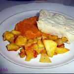 recette Filet de colin, écrasé de potiron et pommes