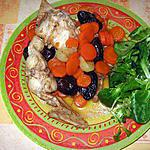 recette Râbles de lapin aux pruneaux et aux carottes