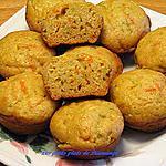 recette Muffins aux zucchinnis ,carottes et compote de pommes et poires