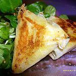 recette bricks de foie gras et poires (noël)