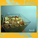 recette Aspics de fenouil, crumble aux noisettes