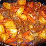 recette Boeuf en cubes aux tomates et légumes