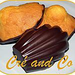 recette Madeleines en coque de chocolat noir