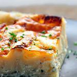 recette Lasagnes blanches aux 3 fromages (comté, chèvre & bleu)