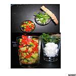 recette duo de verrines chevre et legumes du soleil