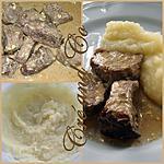 Purée de navets et pavés de chevreuil