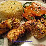 recette Brochettes de saumon et champignons