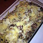 recette gratin de pâte viande hachée et lardons