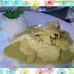 recette émincé de poulet curry coco