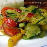 recette Poelée de Courgettes Aux Duos de Poivrons Grillés
