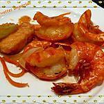recette Grosses crevettes impériale sauce pimentée