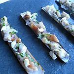 recette couteaux sautés, mayonnaise au wasabi