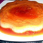 recette flan au caramel et sa genoise