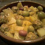 recette tajine au boulette et patate au olives