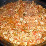 recette Risotto au poulet et aux poivrons