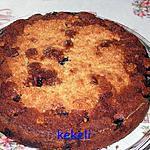recette Gâteau aux cerises et flocons d'avoine