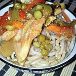 Ramen au poulet et ses légumes sautés sauce cantonnaise