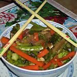recette wok de légumes à la chinoise