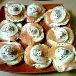 recette Toasts au saumon fumé