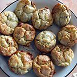 recette Mini-cakes poire, roquefort