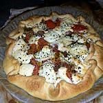 recette Tarte tomates, chèvre, basilic