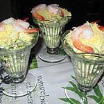 recette Coupes d'avocats aux crevettes roses