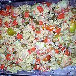 recette SALADE DE COUSCOUS AUX MACEDOINES