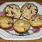 recette Muffins aux canneberges- citron et graines de pavot