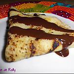 recette Crêpes au lait de coco et coulis chocolat