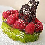 recette Tentation pistache-framboises et chocolat