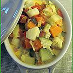 recette Cocotte de noix de saint jacques aux légumes ensoleillés