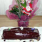 recette bûche de Noël choco-poire