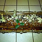 recette Bûche choco-caramel et coeur praliné