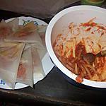recette brick au thon avec ses pasta et sa sauce italienne
