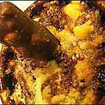 recette Crumble à la banane et ourson guimauve