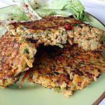 recette Galettes quinoa-lentilles-carottes-amandes-curry
