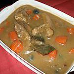 Tendrons de veau à la bière.....avec ses carottes et ses olives noires....