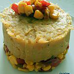 Purée de lentilles corail, Poivrons rouge, maïs