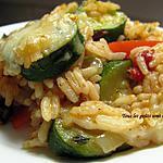 recette Riz gratiné aux légumes