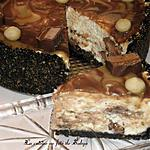 recette Cheesecake au chocolat, caramel et Barre Mars