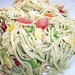 recette Salade de spaghetti aux légumes