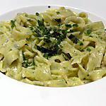 recette Tagliatelles au persil et sa sauce à l'ail