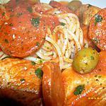 recette sauté de porc au chorizo et aux olives