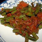 recette Haricots verts à la sauce tomate