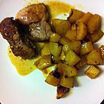 recette Gigot d'agneau au miel et ses pommes de terre