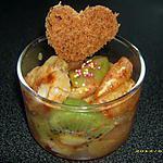 recette salade de fruits chaude, rotis au miel et à la canelle