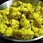 Chou-fleur aux graines de moutarde et à la nigelle